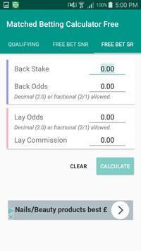 Matched Bet Calculator Free apk screenshot