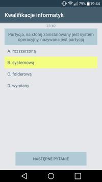 Kwalifikacje informatyk apk screenshot