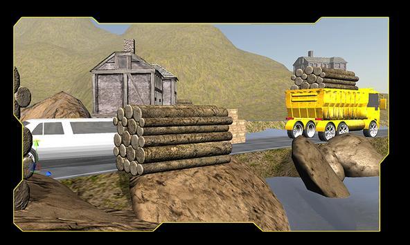 Mountain Cargo Truck Driver poster