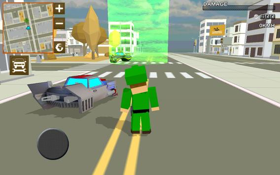 Blocky Hover Car: City Heroes poster