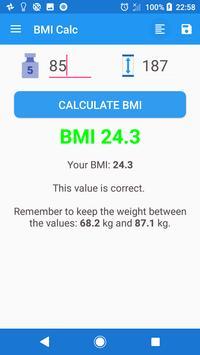 Free BMI Log & Calc poster