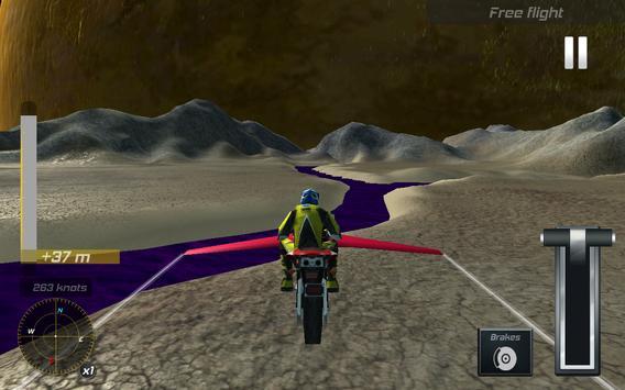 Flying Sci Fi Police Bike 3D apk screenshot