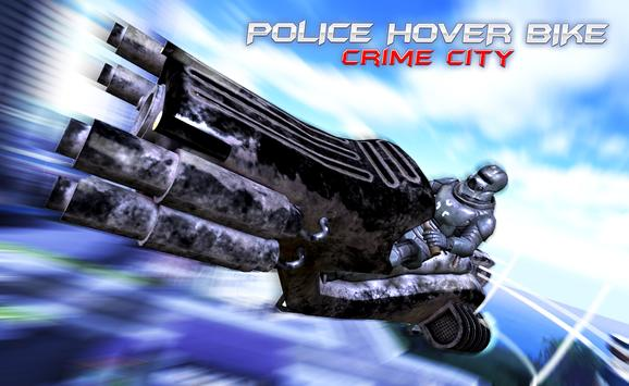Police Hover Bike: Crime City apk screenshot