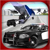 Police Car Transporter 3D icon