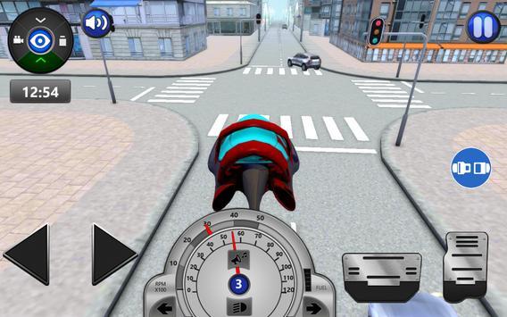 Sci Fi Car Driving School 3D poster