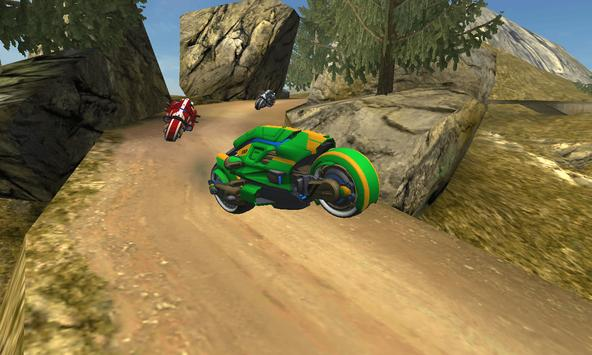 Sci Fi Bike Hill Racer 2017 screenshot 3