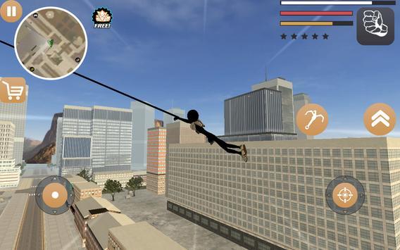 Stickman Rope Hero 2 apk screenshot