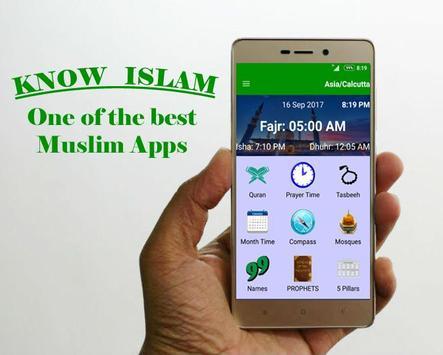Know-Islam - Quran, Prayer time, Qibla, Tasbeeh 海報