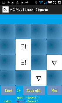 Igra memorije: matematički simboli - dva igrača screenshot 1