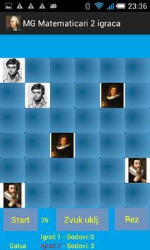 Igra memorije - matematičari - 2 igrača screenshot 4