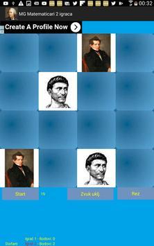 Igra memorije - matematičari - 2 igrača screenshot 6