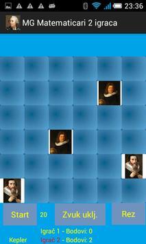 Igra memorije - matematičari - 2 igrača screenshot 3