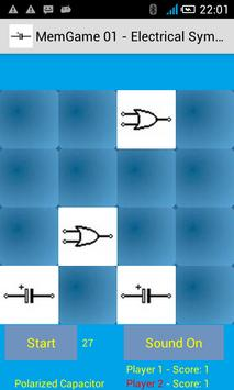 MemGame 01 - Electrical symbols screenshot 1