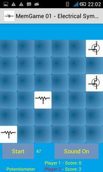MemGame 01 - Electrical symbols screenshot 2