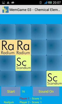 MemGame 03 - Chemical Elements screenshot 1