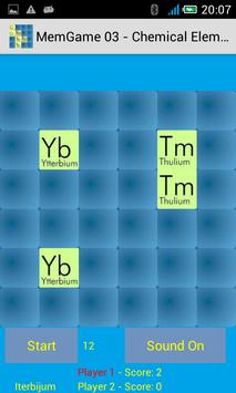 MemGame 03 - Chemical Elements screenshot 2