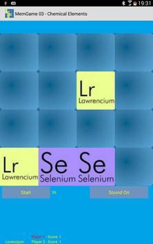 MemGame 03 - Chemical Elements screenshot 4