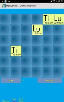 MemGame 03 - Chemical Elements screenshot 5