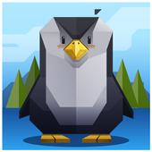 Penguin Christmas Snow icon