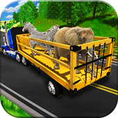 Zoo Animal Transport Truck 3D icon
