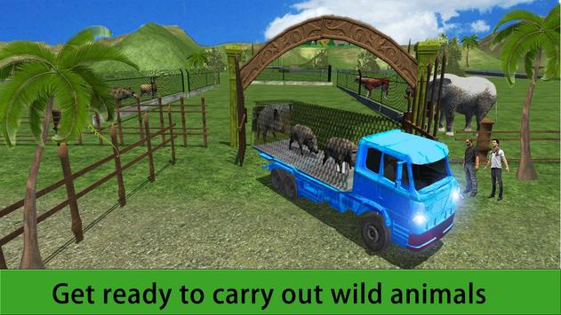 Zoo Animal Transport Truck 3D poster