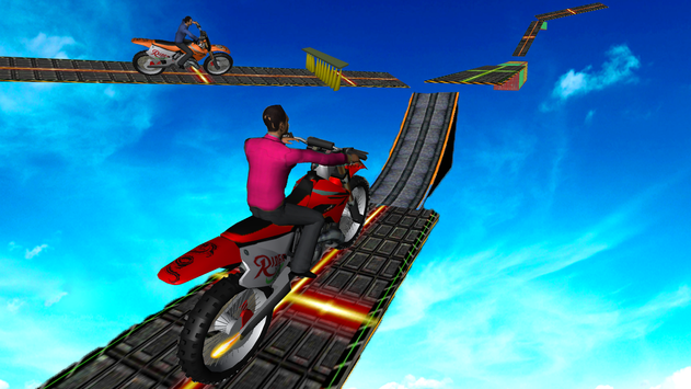 Motorcycle Stunt Game:Bike Stunt Game скриншот 1