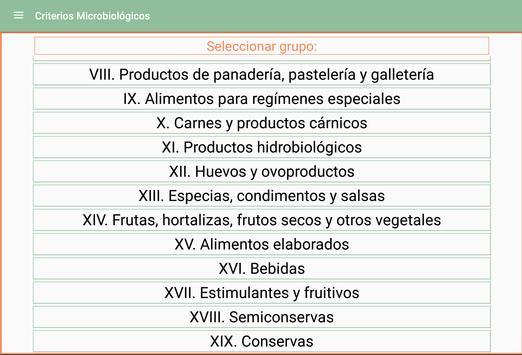 Criterios Microbiológicos apk screenshot