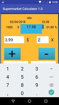 Supermarket Calculator 1.0 screenshot 2