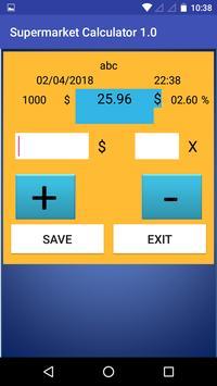 Supermarket Calculator 1.0 screenshot 3