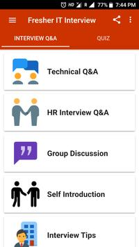 Fresher Interview poster