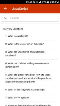 Fresher Interview screenshot 2