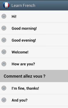 Learn French screenshot 3