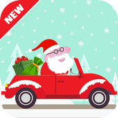 Santa Pig Christmas icon
