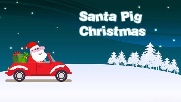 Santa Pig Christmas poster