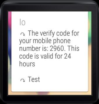 Wear Messenger DEMO apk screenshot
