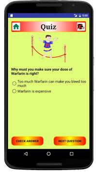 Warfarin Self-Care Quiz apk screenshot