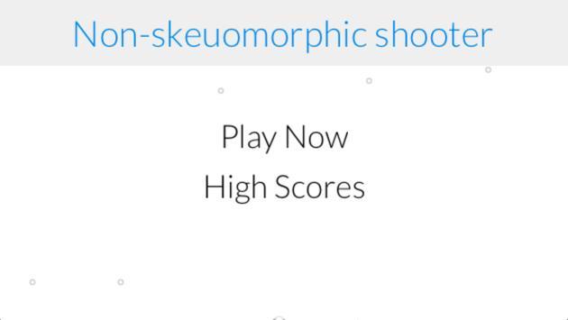 Non-skeuomorphic Shooter apk screenshot