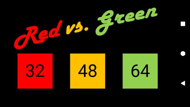Red vs. Green poster