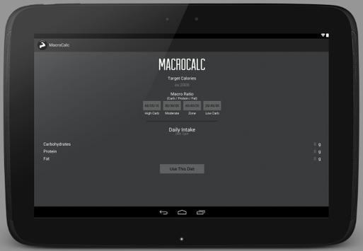 MacroCalc apk screenshot