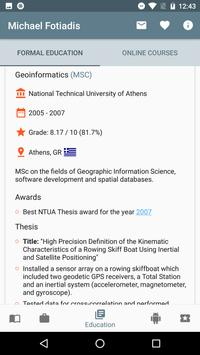 Interactive CV: Michael Fotiadis screenshot 2