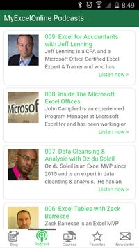 MyExcelOnline Excel Tutorials apk screenshot