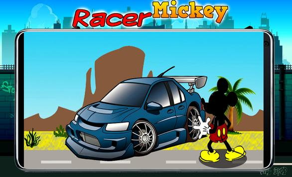 Race Mickey RoadSter Minnie poster