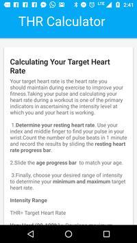 Target Heart Rate Calculator screenshot 1