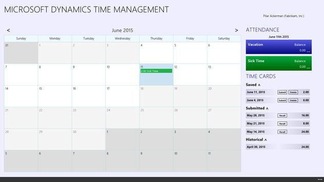 Dynamics Time Management poster