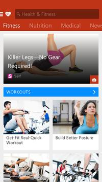 MSN Health & Fitness- Workouts screenshot 1