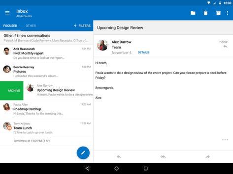 Microsoft Outlook apk screenshot