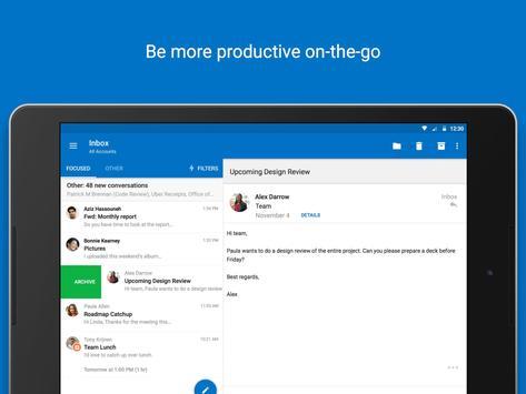 Microsoft Outlook apk imagem de tela