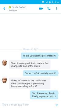 Skype for Business スクリーンショット 1