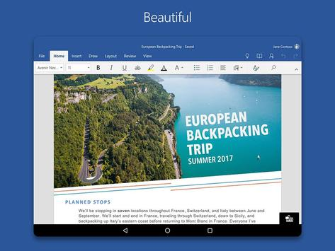 Microsoft Word captura de pantalla de la apk