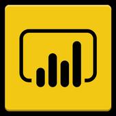 Microsoft Power BI–Business data analytics icon
